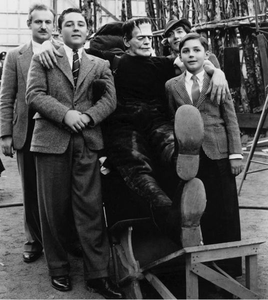vintage everyday: Behind the Scenes of the Classic Frankenstein Films