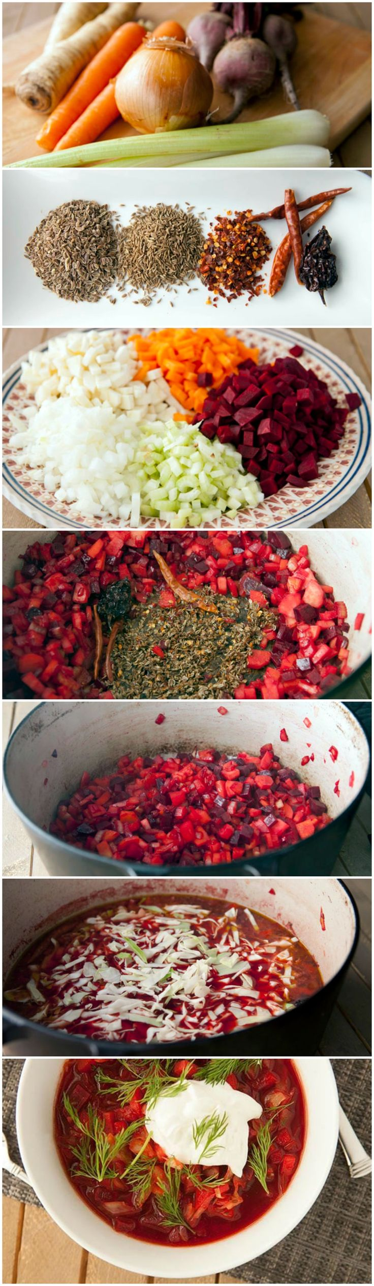 Chris hates bland food, so this recipe is perfect. My borscht has always been on the plain side
