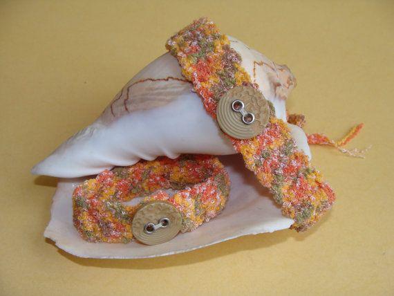 Crochet Choker, Crochet Bracelet, Set, Orange Choker, Women gift ideas, Gift for her, Crochet Pastel Choker and Bracelet