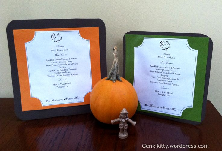 Thanksgiving Vegan Menu Planning