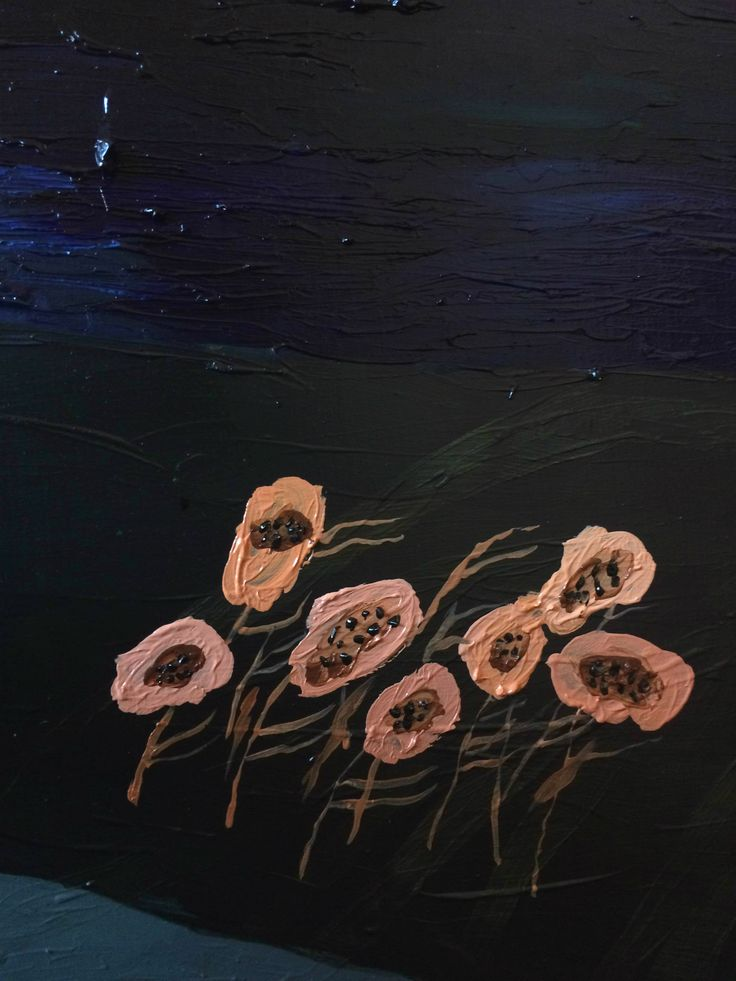 flora de fantasía (detail) óleo sobre madera   #art #juanasubercaseaux
