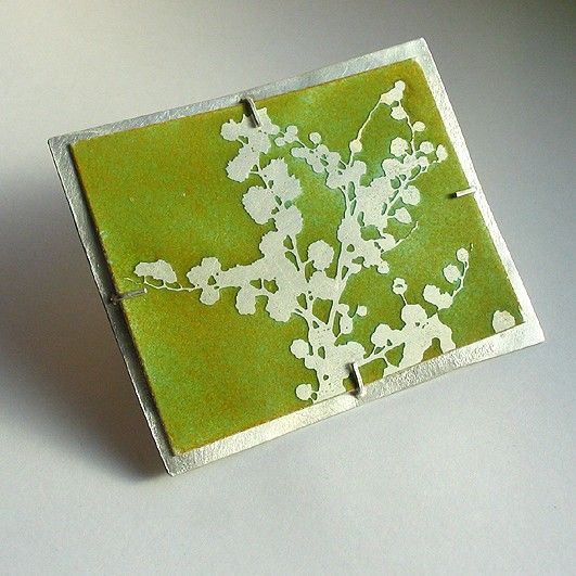 Beautiful mimosa brooch by Sally Grant