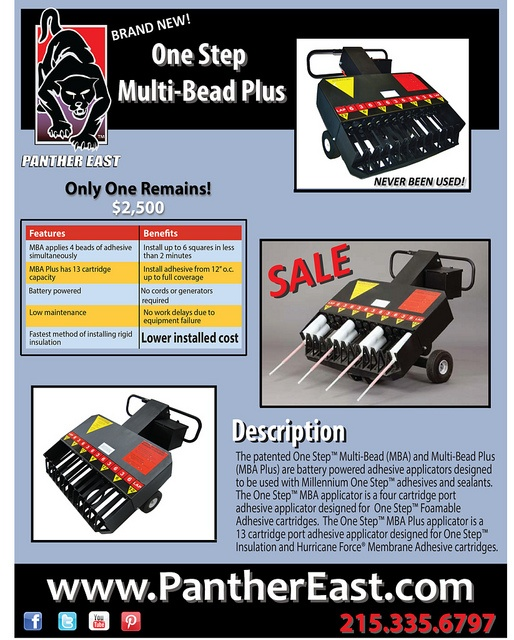 Multi Bead One Step Plus Applicator! ON SALE! ONLY $2,500! Thatu0027s · Roofing  ToolsClearance ...