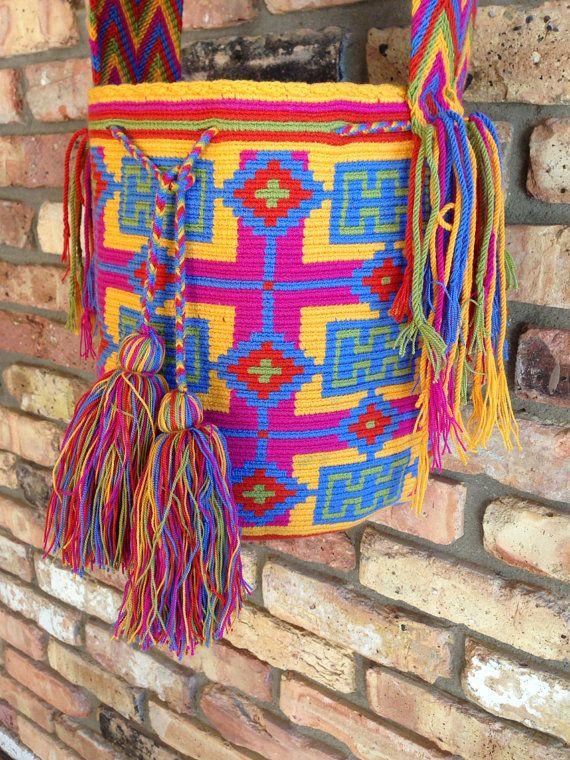 Large Handmade Wayuu Mochila H166 by TheBuenaOnda on Etsy, $150.00