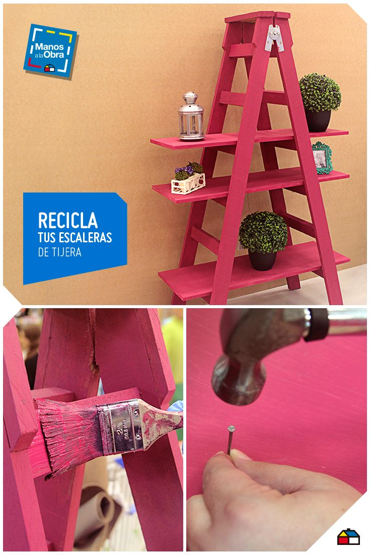 Recicla tu escalera y convi rtela en una linta repisa for Escaleras metalicas homecenter