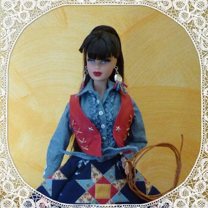 Lilith as western Plains Barbie
