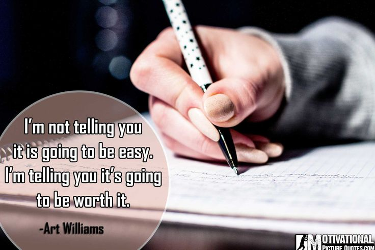 Art Williams exam tension quotes