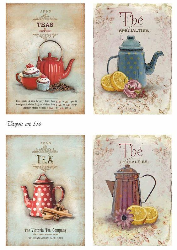 покраснение картинки для декупажа кофе и сахар оттенки голубого