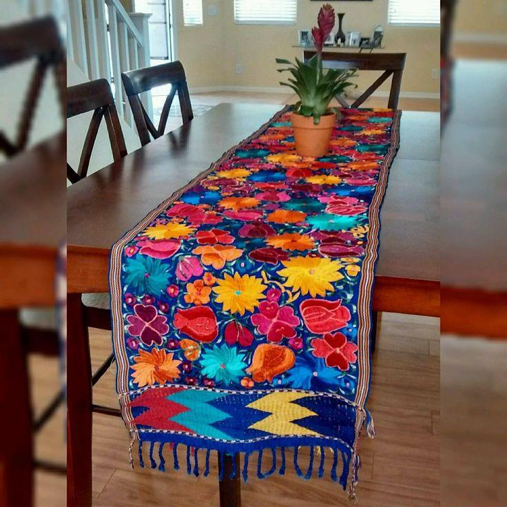 Vibrant Floral Table Runner | Embroidered | Artisanal ...