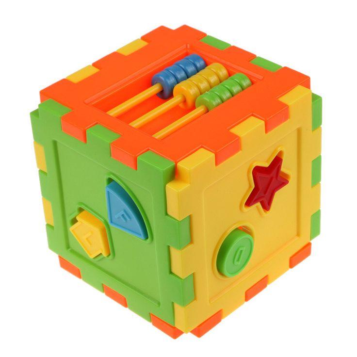 Baby Colorful Block Toy Bricks Matching Blocks Baby Kids Intelligence Educational Sorting Box Toy