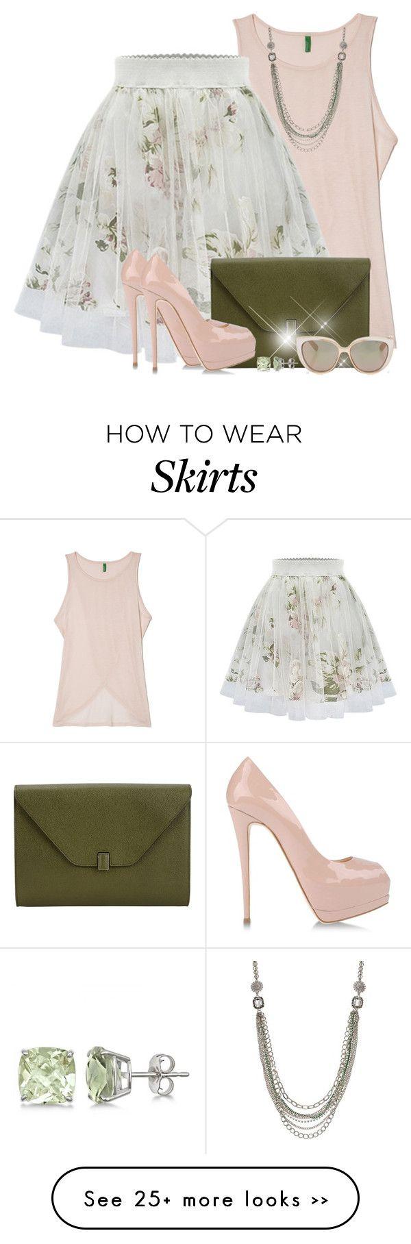 """Floral Print Skater Skirt"" by brendariley-1 on Polyvore"