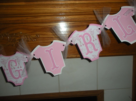 Baby Shower Its A Girl Baby Shower Welcome Baby Banner by PartysOn, $24.00