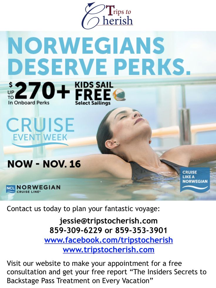 Get up to $270 in onboard perks +  free cruise fare for kids 17 and under on select sailings! #Cruise