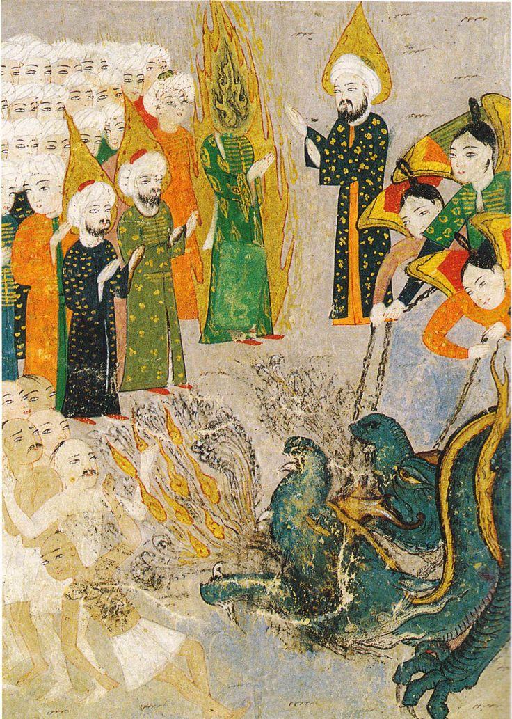 Muhammad Visits Hell, from the Ahval-i Kıyamet (1596; sourced from Minyatürlerle Osmanlı-İslam Mitologyası)