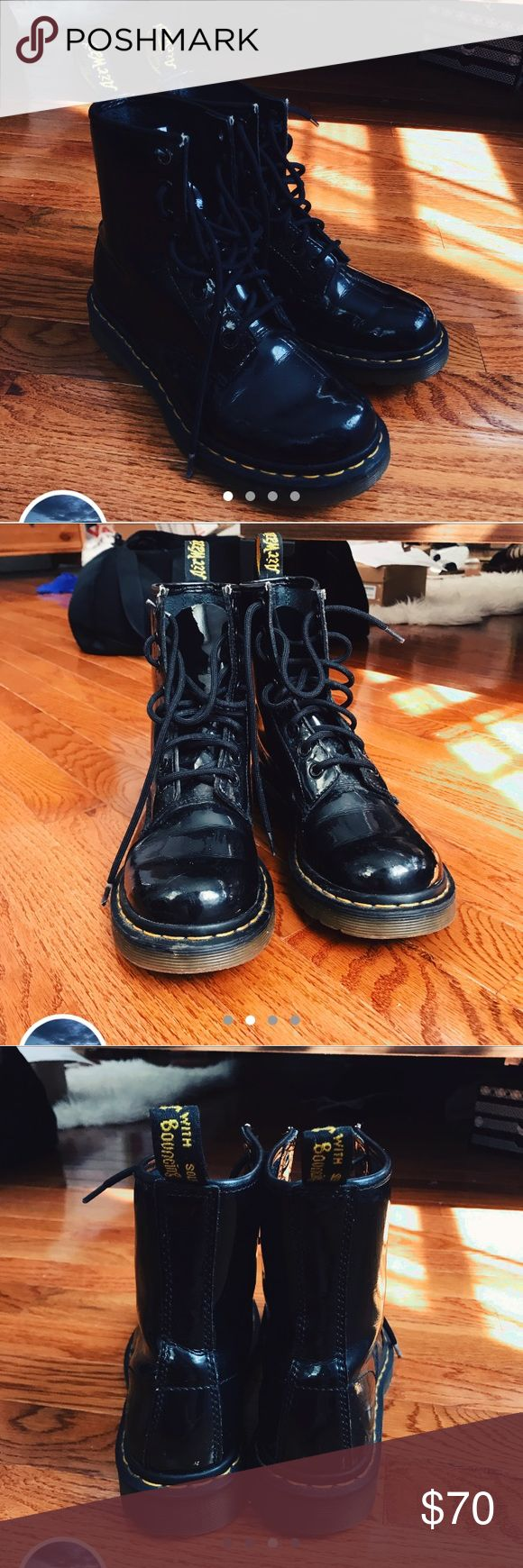 Dr Martens Dr Martens Airwair patent leather boots - in good condition - EU 37/ US 6 Dr. Martens Shoes Combat & Moto Boots