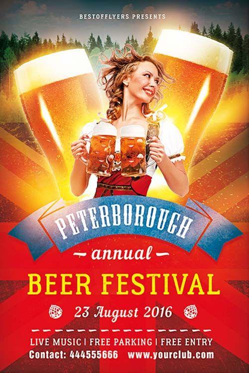 """Plantilla gratis PSD """"Beer Festival"""""""