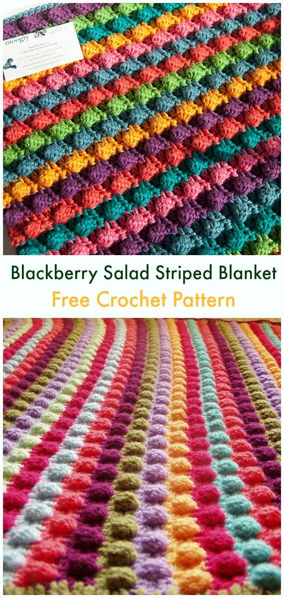 Bobble Popcorn Blanket Free Crochet Patterns Haken Pinterest