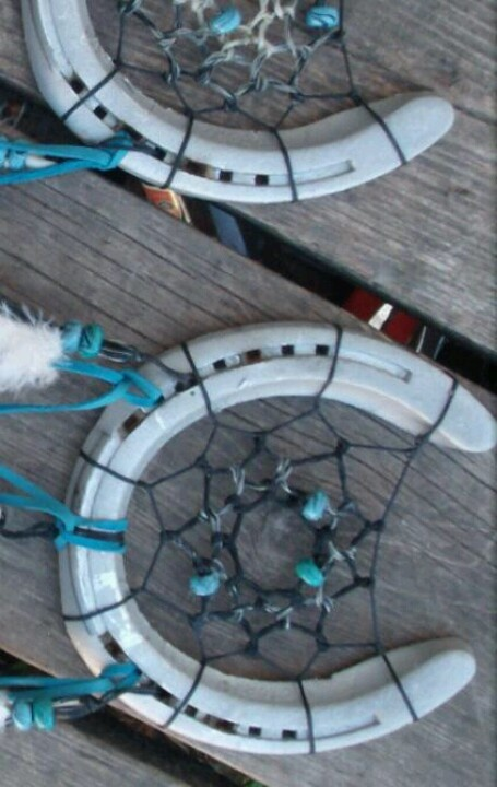 Horse shoe dreamcatchers  ~ pic from google