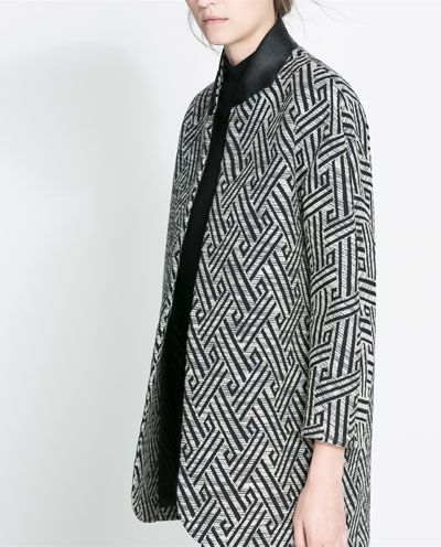 Image 5 of JACQUARD COAT from Zara  http://v.downjackettoparea.com Cannadagoose JACKETS is on clearance sale, the world lowest price. --The best Christmas gift $169