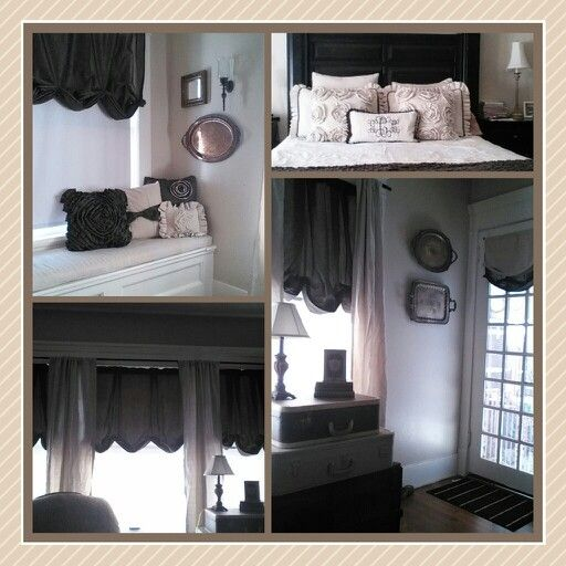 My bedroom makeover. Drop cloths, curtain refashion ...