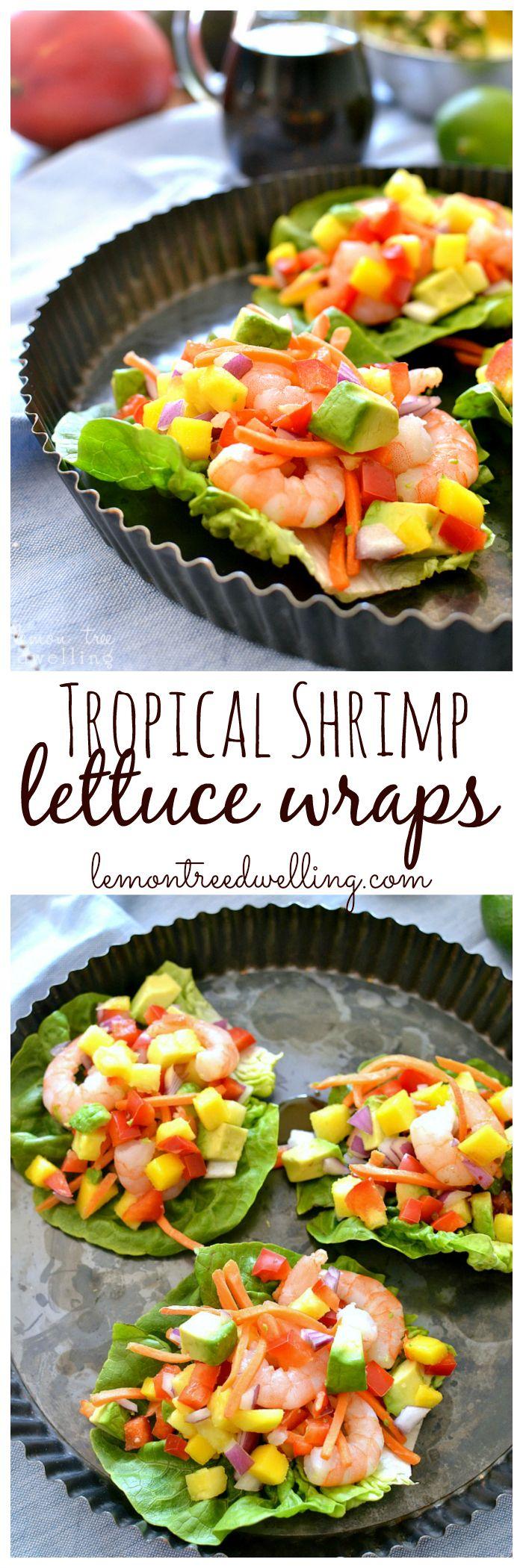 Tropical Shrimp Lettuce Wraps with Honey Lime Soyaki Sauce! #mypicknsave #ad
