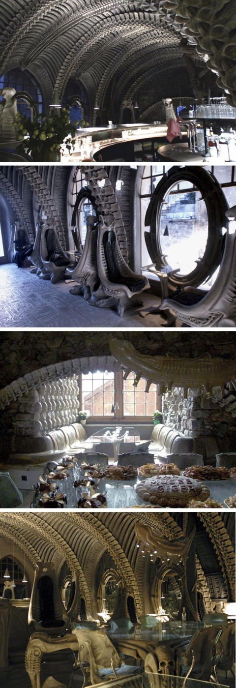 Museum HR Giger Bar in Switzerland- This is a definite on my travels!!