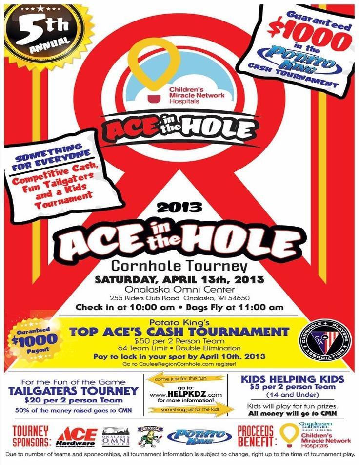 Coulee Cornhole Tournament April 13, 2012 at the Onalaska Omni Center