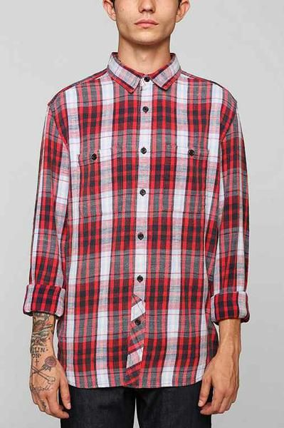 Honey | Stapleford Bruno Washed Flannel Button-Down Shirt from urbanoutfitters.  Wait for this one to go on sale.  Not cheap at $54 but price will be low soon.