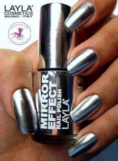Chrome nail polish. So shiny.