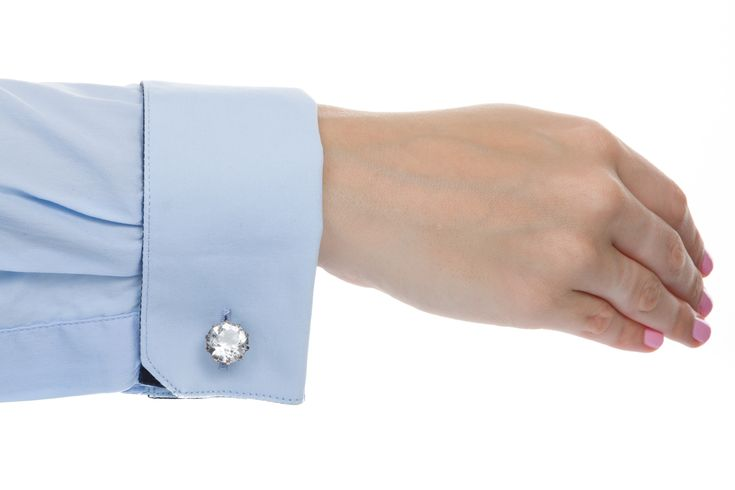 Russian hallmarks silver gilt rock crystal cufflinks. They look great for men or women. Available at www.1stdibs.com - The Jewellery Trading Company