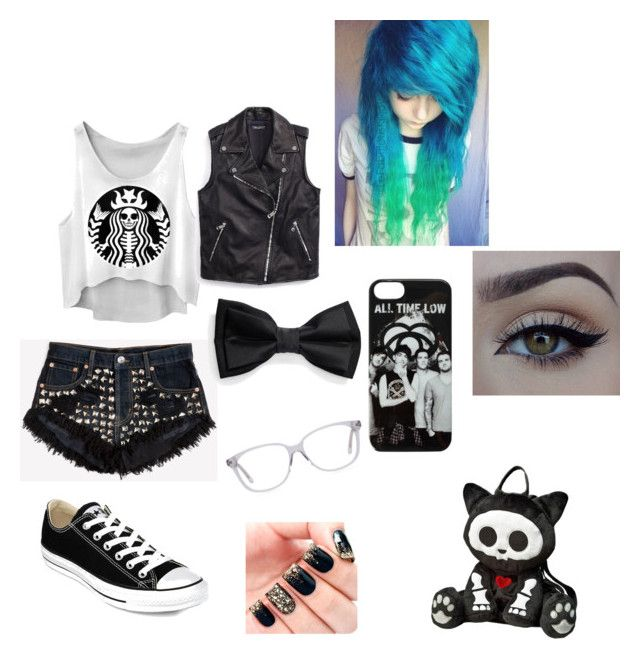 """""""Ronnie's warped outfit"""" by emogurl013 on Polyvore featuring Runwaydreamz, Tommy Hilfiger, Converse and xO Design"""