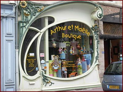Douai (France), an art nouveau shop window