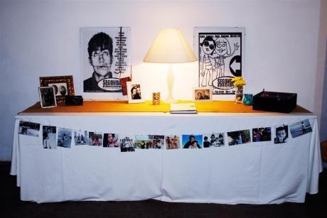 idea de mesa, girnalda de fotos