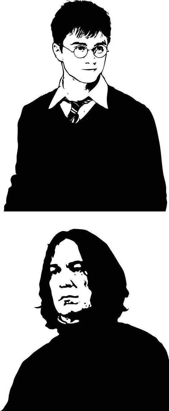 Harry Potter and Severus Snape, Digital Clipart, Clipart Design Elements, Instant Download, Contained: Ai, Eps, PNG, SVG, JPG  format