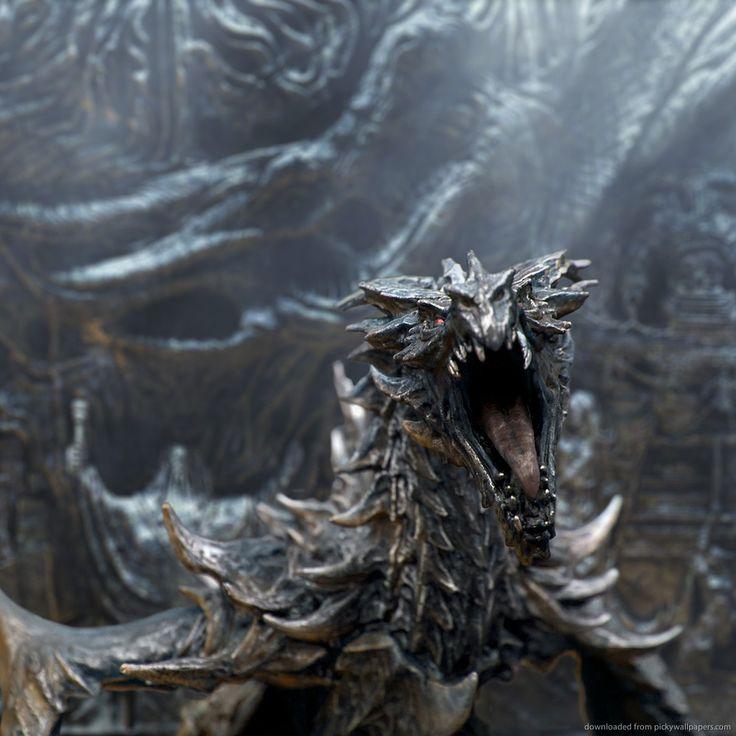 skyrim dragon | Download TES5 Skyrim Dragon Wallpaper For iPad 2