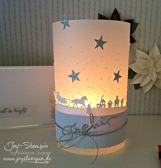 Candle decorated with Jingle all the  Way