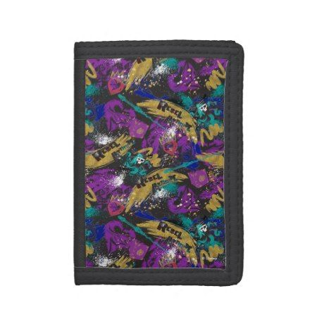 Descendants | Rebel Attitude Pattern Trifold Wallet - tap to personalize and get yours