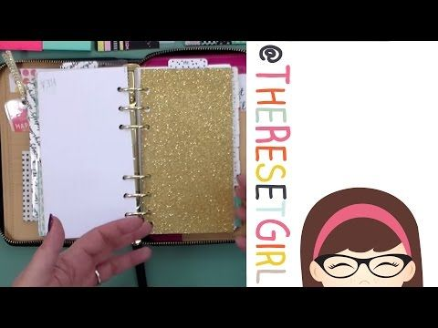 TheResetGirl: Kate Spade Wellesley Planner Set Up and Walk Through - YouTube