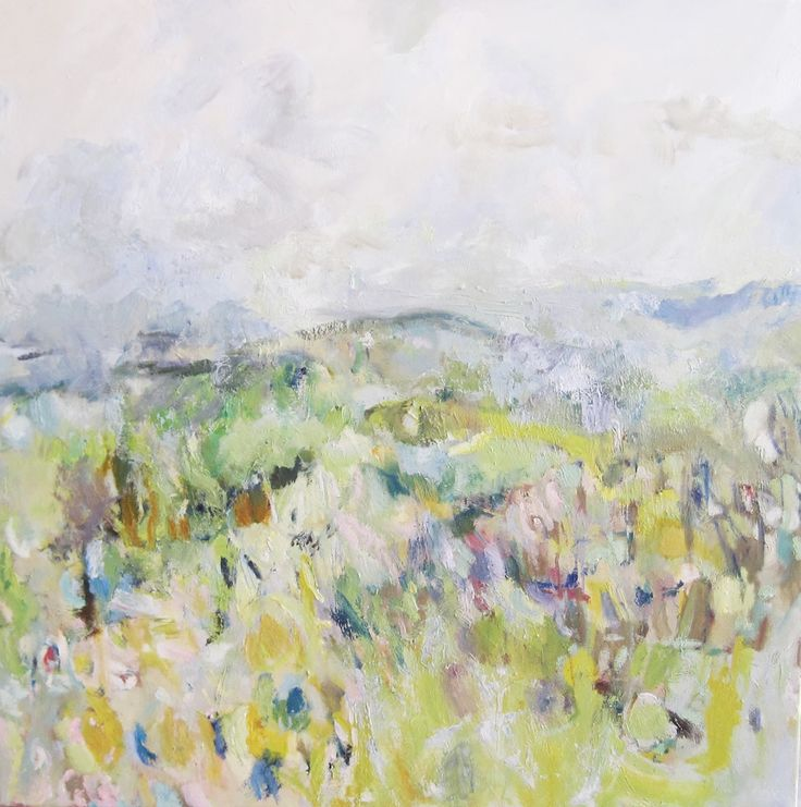 Heyshott Downs Oil on Canvas 100 x 100 cm £ 1,750  #Art #Paintings #Landscape