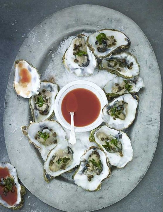 The spicy flavours of this classic cocktail marry really well with freshly shucked, briny oysters. If you're not handy with an oyster shucker, the fishmonger will prep them for you. Keep them chilled and eat within a couple of hours.