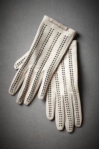 Sweet Pea Gloves from BHLDN: Love these, totally can see wearing them with my honeymoon outfit while leaving the reception!