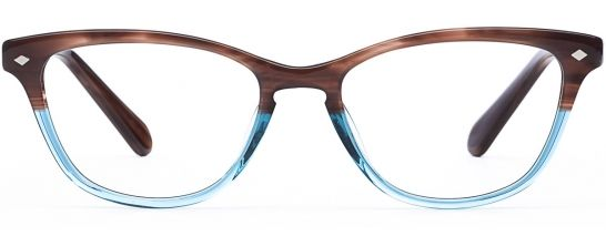 Designer Eyeglasses - Layer Cake frame in Saltwater-Taffy, front view, Rivet & Sway - try on for free!