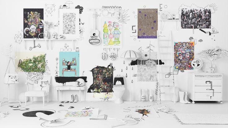 ART EVENT 2017 collectie | IKEA IKEAnl IKEAnederland kunst decoratie accessoires poster limited kunstwerk art tekening graffiti interieur inspiratie wooninspiratie