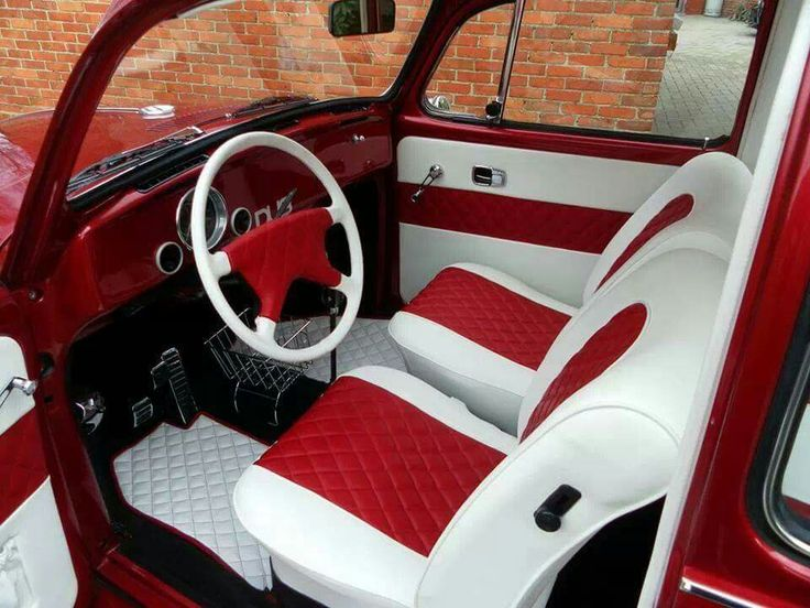 vw leather t beetle bug interior a autostyle