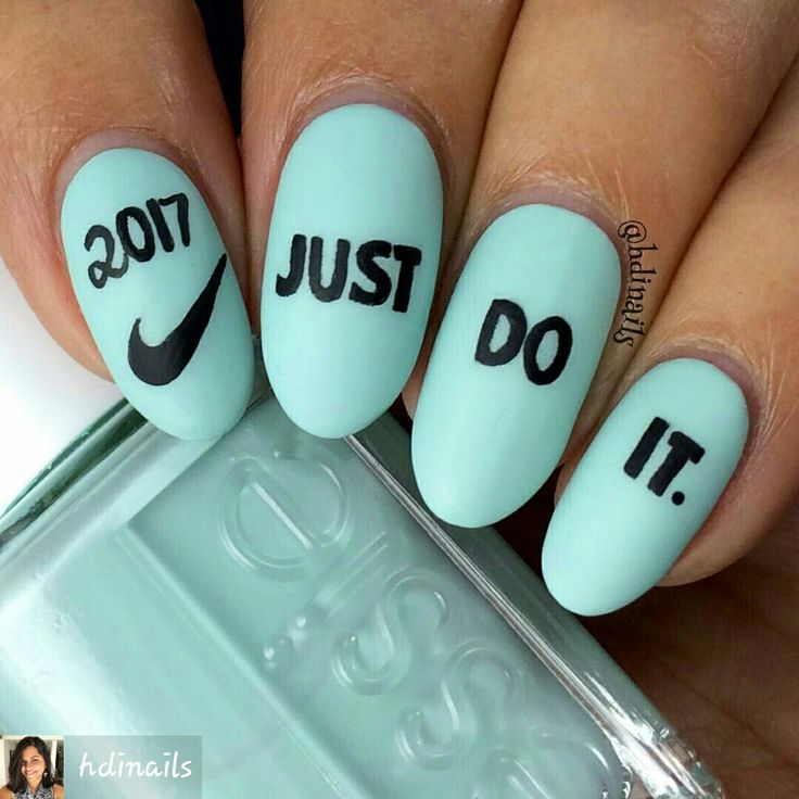 By #hdinails #2017 #Nike #nails