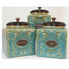teal kitchen canisters best 25 tea coffee sugar canisters ideas on 15112