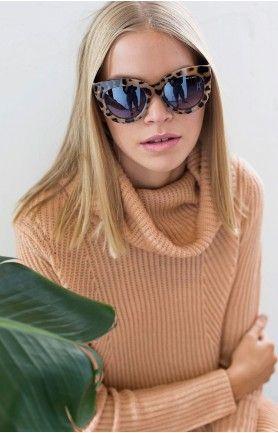 Quay x Shay Mitchell Jinx Desert Leopard Sunglasses