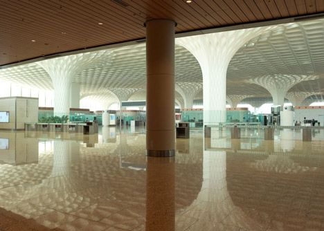 SOM completes Mumbai airport terminal with coffered concrete canopy inShare8