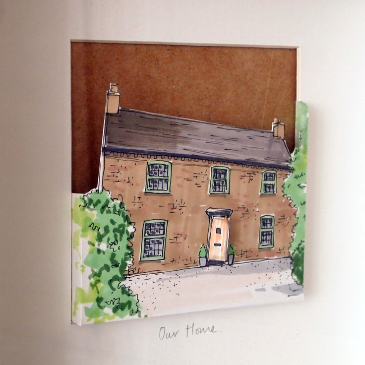 Personalised+pop-out+paper+cut+House+Portrait, £61.50