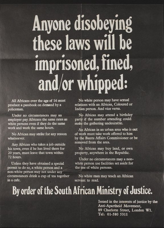 History and effects on apartheid in south africa